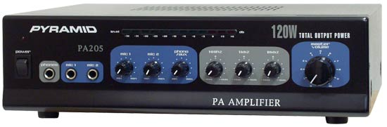 "Pyle - PA205 , Sound and Recording , Amplifiers - Receivers , 120 Watt Microphone PA Amplifier w/70V Output ""& Mic Talkover"
