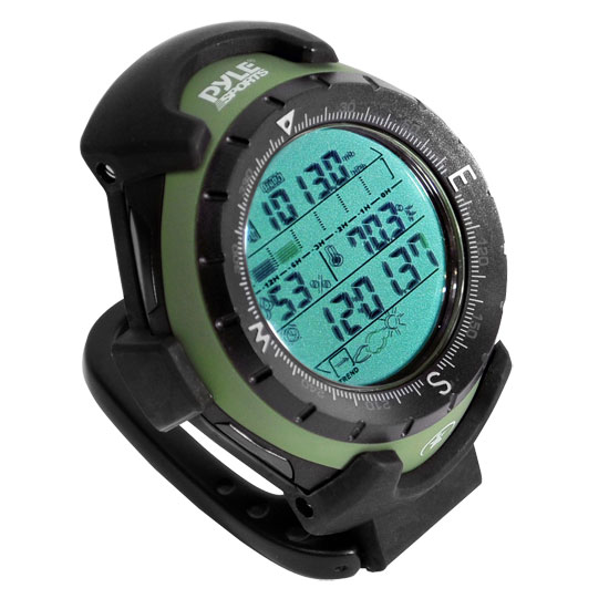 Pyle - PACT1 , Gadgets and Handheld , Multi-Function Handheld Devices , Multifunction Handheld Altimeter With Barometer, Thermometer, Hygrometer, And Timekeeping Functions