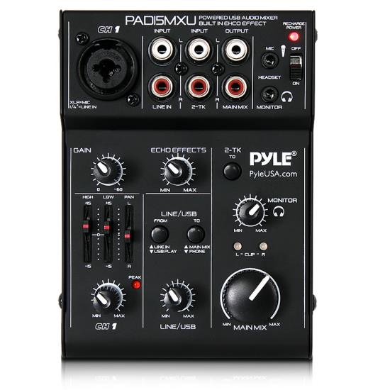 pyle pad15mxu sound and recording mixers dj controllers. Black Bedroom Furniture Sets. Home Design Ideas