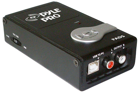 Pyle - PAD5 , DJ Equipment , Pro DJ Accessories , Analog to Digital USB Audio Interface Converter & Recorder