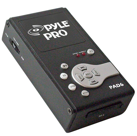 Pyle - PAD6 , DJ Equipment , Pro DJ Accessories , USB Audio Interface & Recorder & SD Card