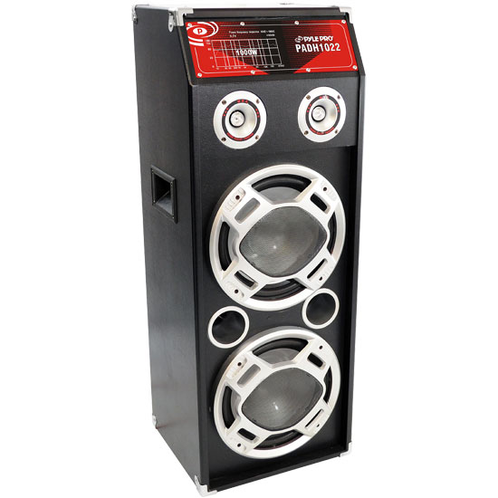 Pyle - PADH1022 , Sound and Recording , PA Loudspeakers - Cabinet Speakers , 1000 Watts Speaker System W/Built-in Flashing Lighting