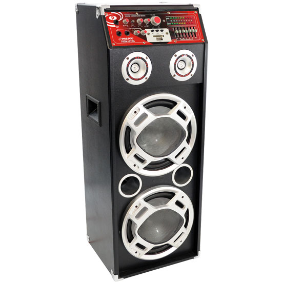 Pyle - PADH1024A , DJ Equipment , DJ Speakers , Powered Digital USB/Sd Card Reader Speaker System W/Built-in Flashing Lighting