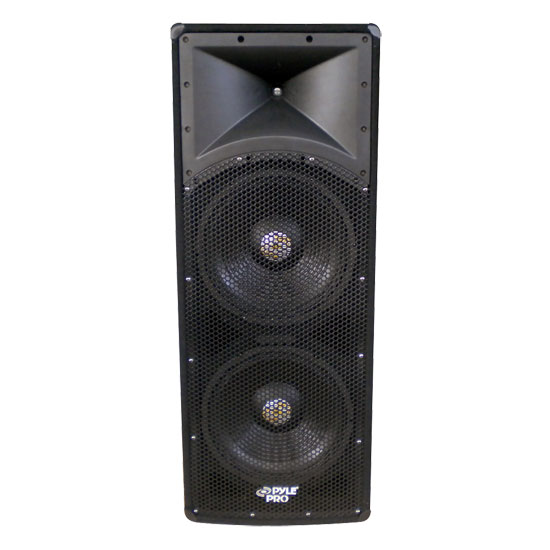 Pyle - PADH124 , Sound and Recording , Studio Speakers - Stage Monitors , 1200 Watt Dual 12''  3 Way  PA Speaker Cabinet