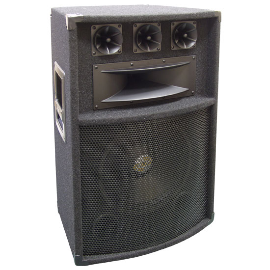 Pyle - PADH1289 , Sound and Recording , Studio & Stage Monitor Speakers , 600 Watt 12'' Five-Way PA Speaker Cabinet