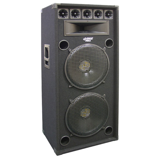 Pyle - PADH152 , Sound and Recording , Studio Speakers - Stage Monitors , 1200 Watt Dual 15'' 8-Way Stage Speaker Cabinet