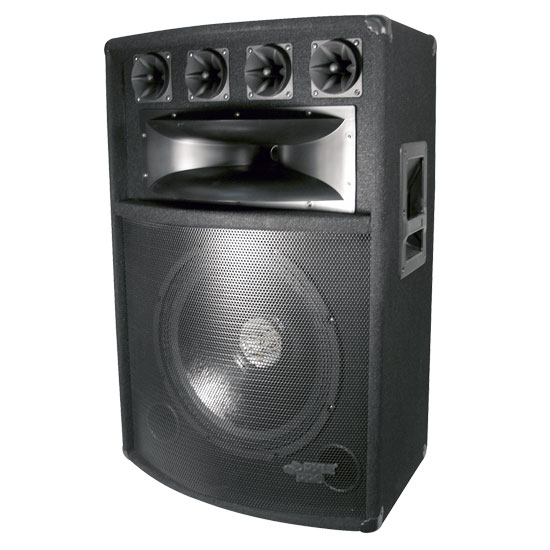 Pyle - PADH1589 , Sound and Recording , Studio Speakers - Stage Monitors , 800 Watt 15'' Six-Way Speaker Cabinet