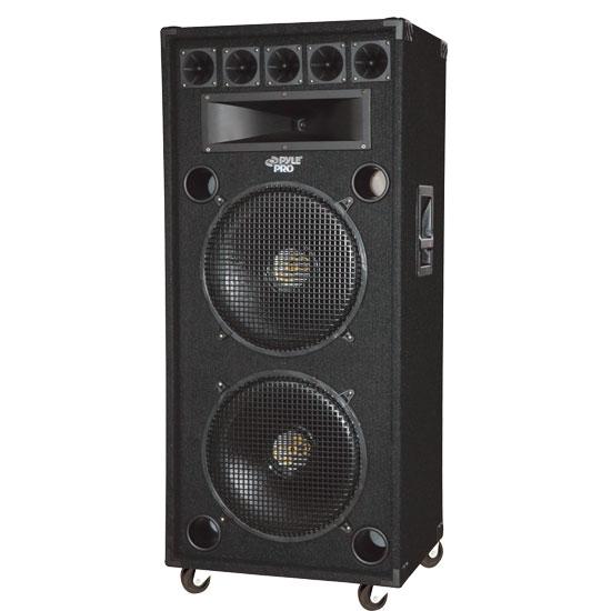 Pyle - PADH182 , DJ Equipment , DJ Speakers , 1400 Watt Dual 18'' 8-Way Stage Speaker Cabinet