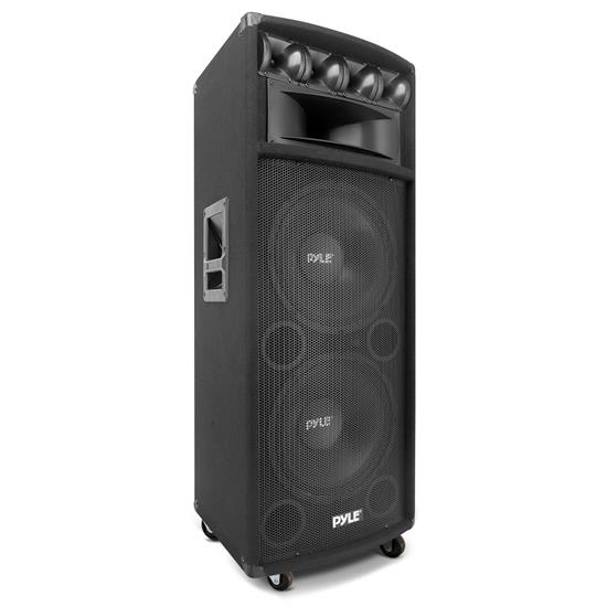 Pyle - PADH212 , Sound and Recording , Studio Stage Monitors - Box Cabinet Systems , 1600W Heavy Duty 7 Way Pa Loud-speaker Cabinet