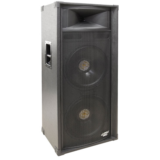 Pyle - PADH21580 , Sound and Recording , Studio & Stage Monitor Speakers , 1400 Watt Dual 15'' 3-Way Stage Speaker Cabinet