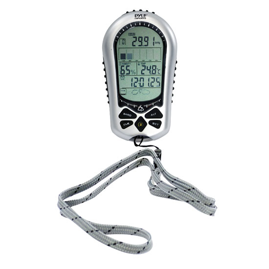Pyle - PAH1 , Gadgets and Handheld , Multi-Function Handheld Devices , Digital Handheld Barometer/Alimeter/Thermometer/Clock