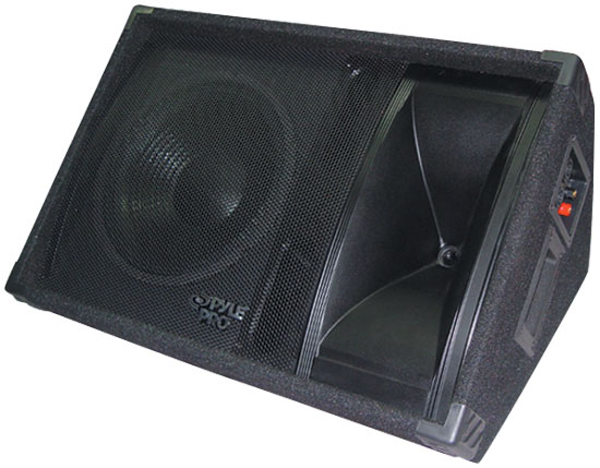 Pyle - PASC12 , Sound and Recording , Studio Stage Monitors - Box Cabinet Systems , 600 Watt 12'' Two-Way Stage Monitor Speaker System