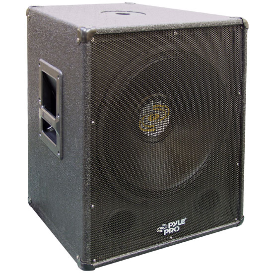 Pyle - PASW18 , Sound and Recording , Studio Stage Monitors - Box Cabinet Systems , 1000 Watt 18'' Stage PA Subwoofer Cabinet
