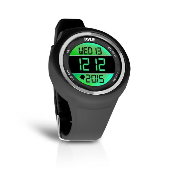 Pyle - PATW19BK , Sports and Outdoors , Watches , Gadgets and Handheld , Watches , Go Sport Multi-Function Sports Training Watch (Stopwatch, Pedometer, Countdown Timer, Multi-Alarm, Daily Reminders)