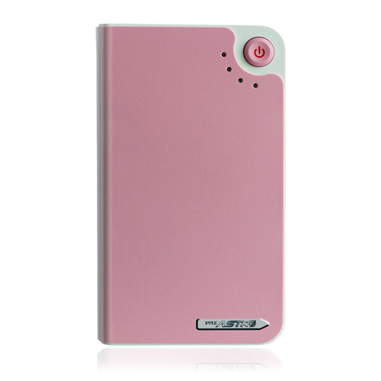 Pyle - PBC10000PN , Gadgets and Handheld , Power Banks , Universal Power Bank Backup High Capacity External Battery Charger 10,000 mAh, USB 5V/1A Output, USB Charging Cable & 7 Different Charging Adapters (Pink)