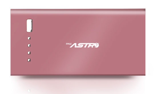 Pyle - PBC5300PN , Personal Electronics , Power Banks , Universal Power Bank Backup High Capacity External Battery Charger 5,200 mAh with USB 5V/1A Output & USB Charging Cable (Pink)