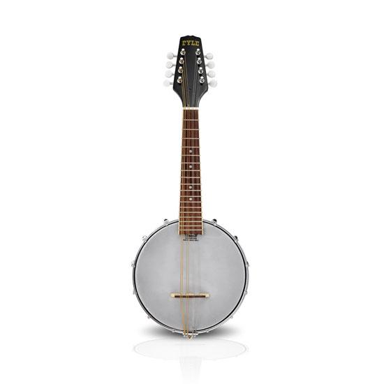 Pyle - UPBJ20 , Musical Instruments , Banjo - Ukulele , 8-String Mandolin-Banjo Hybrid with White Jade Tuner Pegs & Rosewood Fretboard