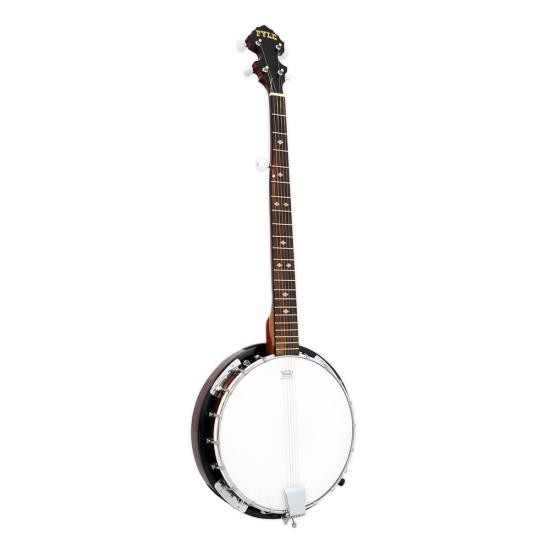 Pyle - PBJ60 ,  , 5 String Banjo, White Jade Tuner Pegs, Rosewood Fretboard, Chrome Plated Hardware, 37.9'' Total Length, Polished Wood Finish