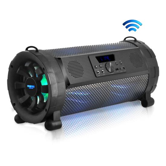 Pyle - PBMSPG190 , Home and Office , Portable Speakers - Boom Boxes , Street Blaster Bluetooth Boom Box Speaker System - Wireless & Portable Stereo Speaker with Built-in LED Lights, FM Radio (300 Watt)