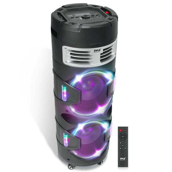 Pyle - PBMSPG82 , Sports and Outdoors , Portable Speakers - Boom Boxes , Gadgets and Handheld , Portable Speakers - Boom Boxes , Portable Bluetooth Speaker & Microphone Karaoke System - Indoor/Outdoor Wireless PA Stereo with LED Party Lights, MP3/USB Reader, FM Radio