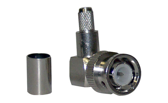 Pyle - PBNC053 , DJ Equipment , Pro DJ Accessories , 3-Peice Right Angle Crimp style BNC Male Connector