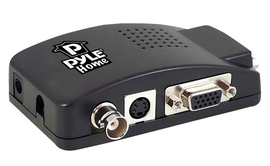 Pyle - PBNC7503 , Sound and Recording , Cables - Wiring - Adapters , Composite BNC & S-Video To VGA Converter -Wide Screen