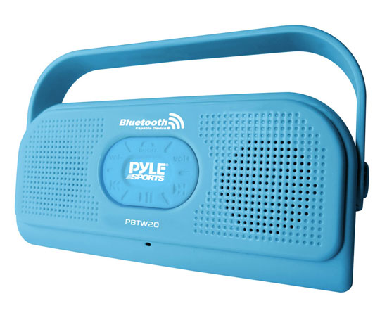 Pyle - PBTW20BL , Home Audio / Video , i-Pod - MP3 Mini Speakers , Surf Sound 2-In-1 Waterproof Bluetooth Shower Speaker and  Call Answering Microphone(Color Blue)