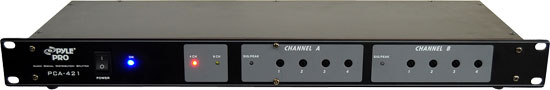 Pyle - PCA421 , Sound and Recording , Cables - Wiring - Adapters , 19'' Rack Mount Audio Signal Distribution Splitter