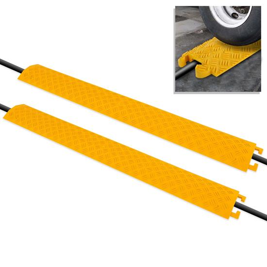 Pyle - PCBLCO101X2YL , Home and Office , Cable Ramps - Cord/Wire Protectors , Cable Protector Cover Ramp - Cord/Wire Safety Concealment Track