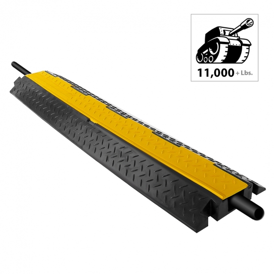 Pyle - PCBLCO102 , Home and Office , Cable Ramps - Cord/Wire Protectors , Cable Protector Cover Ramp - Cord/Wire Safety Concealment Track with Flip-Open Access Lid