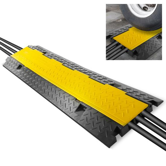 Pyle - PCBLCO105 , Home and Office , Cable Ramps - Cord/Wire Protectors , Cable Protector Cover Ramp - Cord/Wire Safety Concealment Track with Flip-Open Access Lid (Three Channel Style)