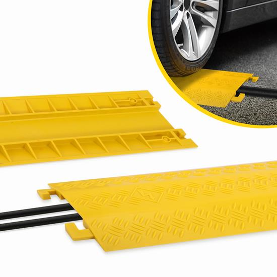 Pyle - PCBLCO22 , Home and Office , Cable Ramps - Cord/Wire Protectors , Cable Protective Cover Ramp, Cord/Wire Concealment Protection Track, Extra Wide
