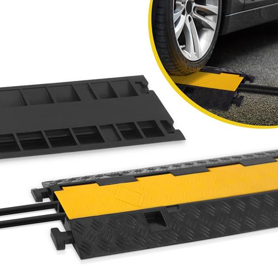 Pyle - PCBLCO26 , Home and Office , Cable Ramps - Cord/Wire Protectors , Cable Protective Cover Ramp, Cord/Wire Concealment Protection Track, Hassle-Free