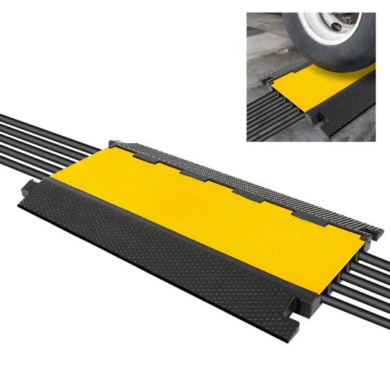Pyle - UPCBLCO28 , Home and Office , Cable Ramps - Cord/Wire Protectors , Multi-Channel Cable Protective Cover Ramp, Cord/Wire Concealment Protection Track
