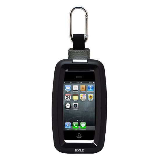 Pyle - PCIC45 , Home Audio / Video , i-Pod - iPad & MP3 Accessories , Ultimate Protection Waterproof Universal Sport Case With Carabiner Clip for iPhone 4 4s iPod Touch ,Some Android & Other Portable Devices (Black)