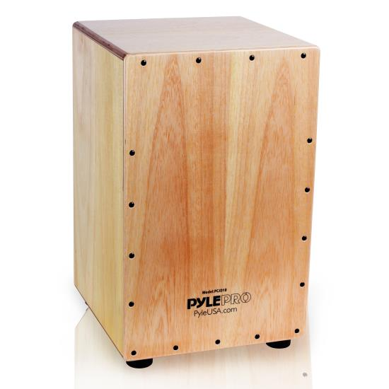 Pyle - PCJD18 , Musical Instruments , Drums , Stringed Jam Cajon - Wooden Cajon Percussion Box