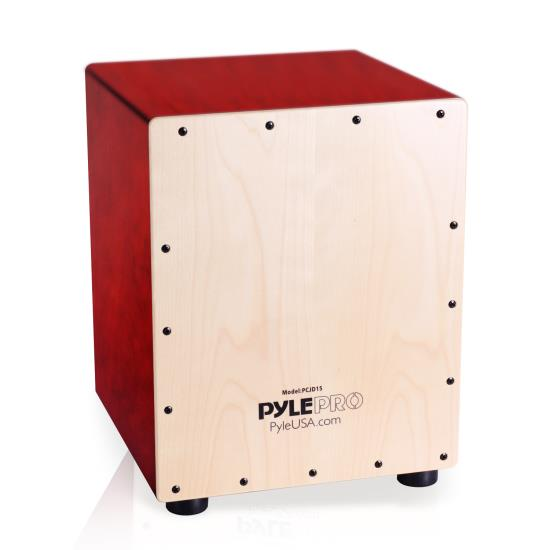 Pyle - PCJD25 , Musical Instruments , Drums , Snare-Style Cajon Wooden Percussion Box