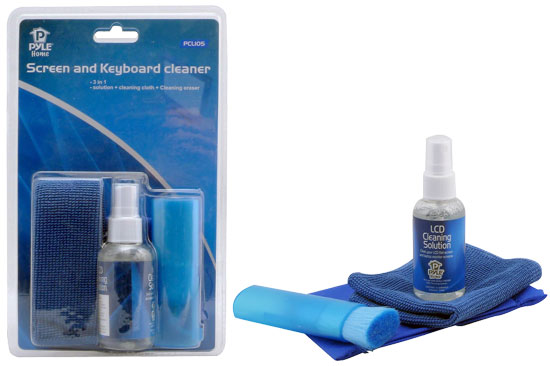 Pyle - PCL105 , Home and Office , TVs - Monitors , LCD Screen & Computer Keyboard 3 pc Cleaning Kit