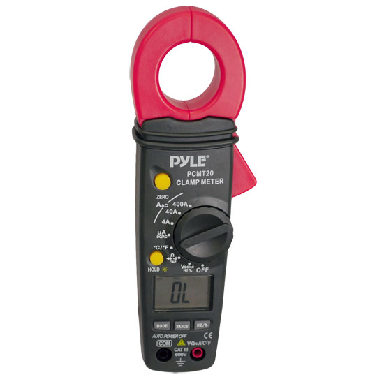 Pyle - PCMT20 , Tools and Meters , Multimeters and  Electrical , Digital AC/DC Auto-Ranging Clamp Meter (Measures AC/DC Volts and AC Amps)