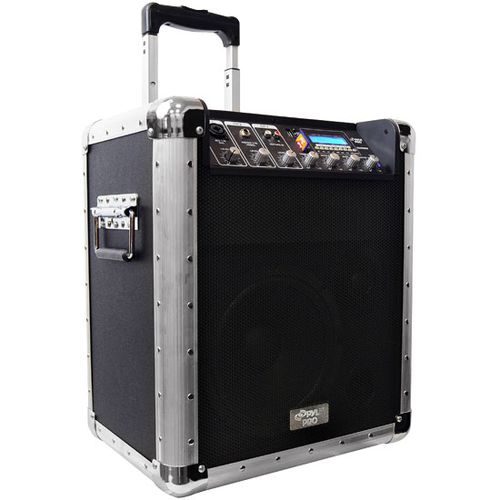 Pyle - pcmx260mb , Sound and Recording , PA Loudspeakers - Molded Cabinet Systems , Battery Powered Portable PA System w/USB/SD/MP3 Inputs(Microphone Included)