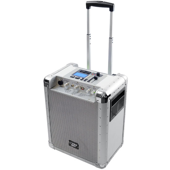 Pyle - PCMX265W , DJ Equipment , Wireless PA Systems , Battery Powered Portable PA System With USB/SD, DJ Controls, And Aux Inputs