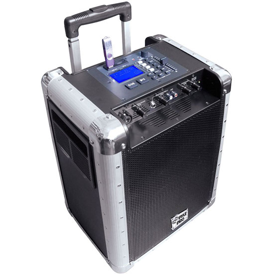 Pyle - PCMX265B , DJ Equipment , Wireless PA Systems , Portable PA System with Rechargeable Battery, USB Port, SD Slot, DJ Controls & Aux Inputs