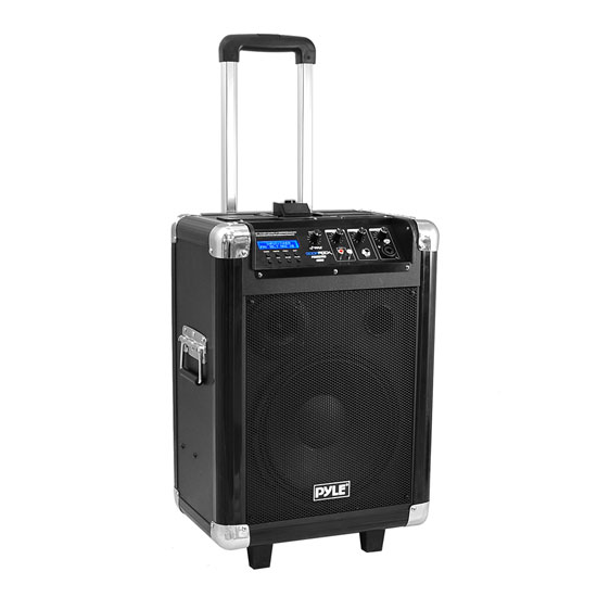 "Pyle - PCMX270B , Marine Audio & Video , Amplified Speaker Systems , Boom Rock 400 Watt Bluetooth 10"" Portable PA Speaker System with Built-in Rechargeable Battery, Wireless Headset, Handheld & Lavaliere Microphones & FM Radio"