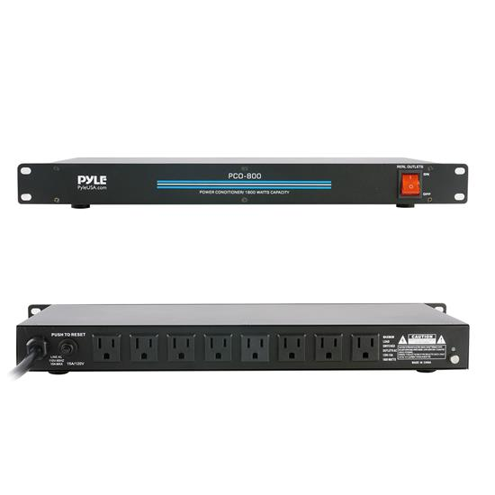 Pyle - PCO800 , Home and Office , Power Supply - Power Converters , 19'' Rack Mount 1800 Watt Power Conditioner w/ 8 Outlets