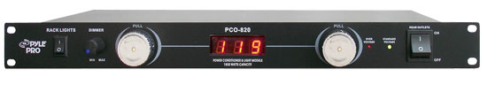 Pyle - PCO820 , DJ Equipment , Power Conditioner , 19'' Rack Mount 8 Outlets 1800 Watt Power Conditioner W/Voltage Meter