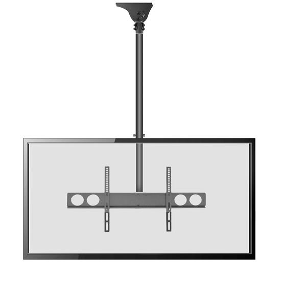 Pyle - PCTVM18 , Musical Instruments , Mounts - Stands - Holders , Sound and Recording , Mounts - Stands - Holders , Universal TV Ceiling Mount Bracket with Adjustable Height and Tilt, Fits Virtually All 37.0'' to 70.0'' TVs (Flat Panel HDTV, LCD, LED, Plasma and Smart TVs)
