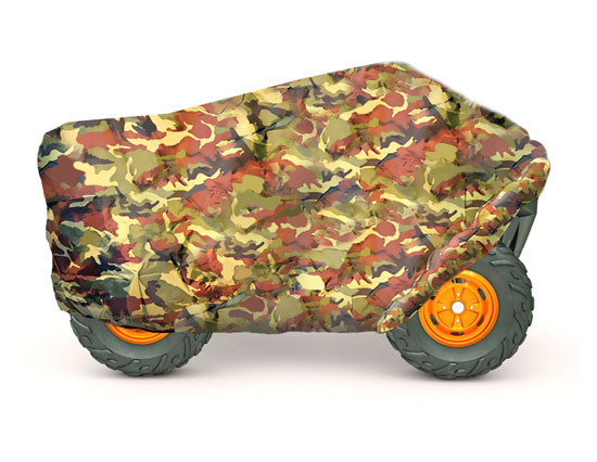 Pyle - PCVATC32 , Marine and Waterproof , Protective Storage Covers , On the Road , Protective Storage Covers , Armor Shield ATV / 4 Wheeler Protective Cover, Camo Print, Fits Vehicles up to 86.5''L x 49''W x 33.5''H