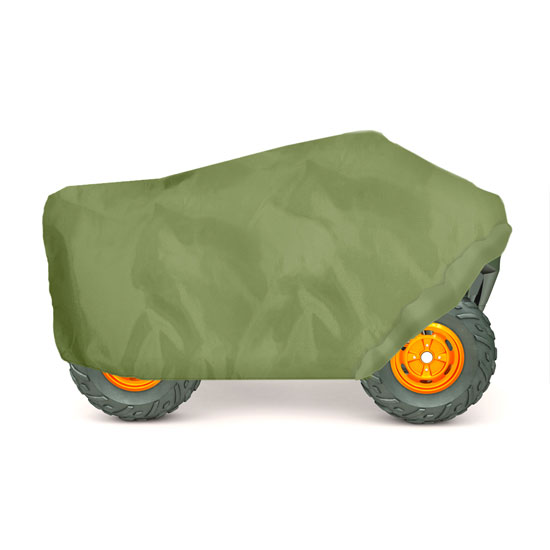 Pyle - PCVATV22 , Marine and Waterproof , Protective Storage Covers , On the Road , Protective Storage Covers , Armor Shield ATV / 4 Wheeler Protective Cover, Olive Color, Fits Vehicles up to 86.5''L x 49''W x 33.5''H