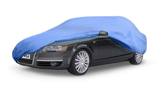 Pyle - PCVCAR14 , Marine and Waterproof , Protective Storage Covers , On the Road , Protective Storage Covers , Armor Shield Car Cover Fits Autos Upto 14.3' in Overall Length