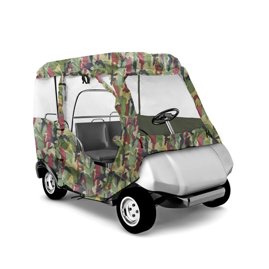 Pyle - PCVGFCP91 , Marine and Waterproof , Protective Storage Covers , On the Road , Protective Storage Covers , Armor Shield Club Car Golf Cart Custom Enclosure, Fits Precedent® Golf Cart Models (Camo Color)